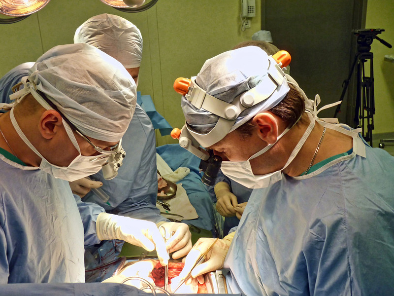 Open heart surgery being performed at the Federal Heart Center. (Penza, Russia) (9.21.2011)