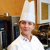 Mira Hotel chef at the breakfast buffet. (Mira Hotel chef. (Yuzhno Sakhalinsk, Russia)