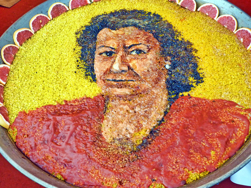 Portrait in paella. (6.8.2012)<br /> <br /> Nothing special, nothing new, but thought you might get a kick out of seeing this portrait in paella from when we happened upon a paella festival in Spain.