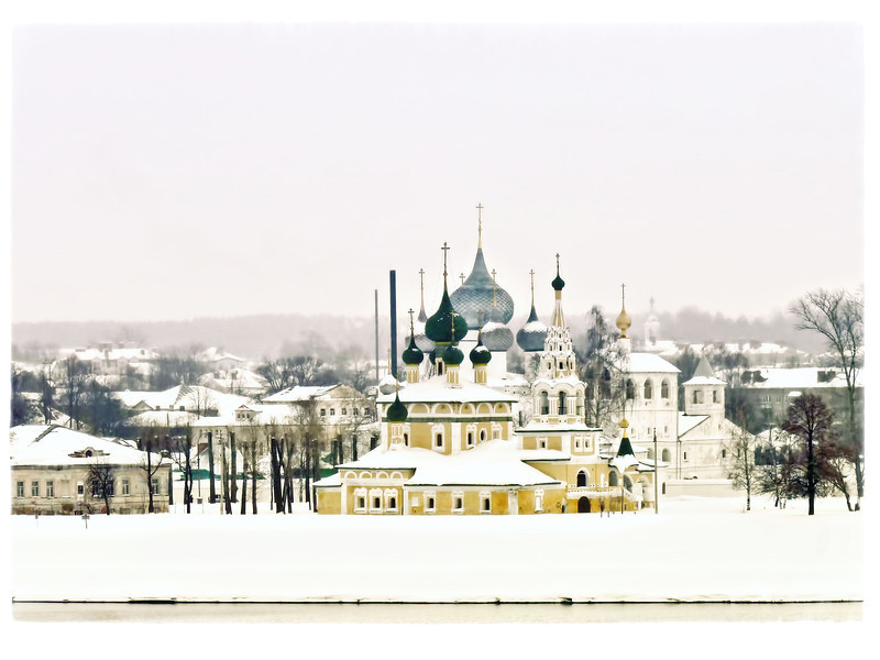 Uglich's Cathedral of the Transfiguration along the Volga River.