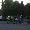 July 15... bikers outside of Sports Basement.  Stopped to check out shoes and encountered group.