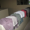 July 5... railing makes an effective laundry and clothes sorting rack.