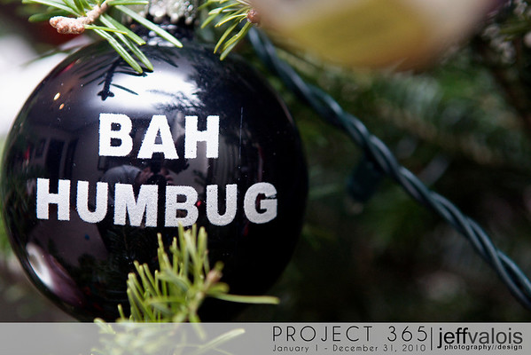This seemed like a good ornament for me this year. Bah humbug. 12/22/10