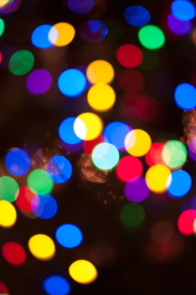 Manual focus, or lack thereof, of a community Christmas tree