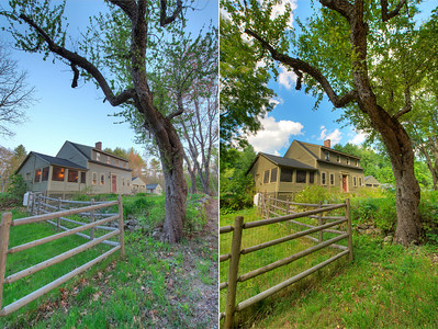 """These images were assembled using Photomatix using the """"Natural Sky"""" tone generator setting."""