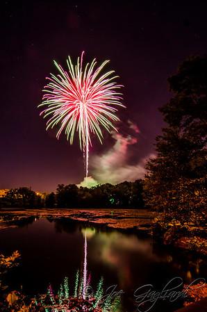 Firemen field fireworks, July 2012
