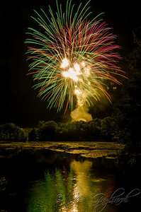 Firemen field fireworks, July 2012