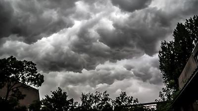 Storm boven de Shetlands...