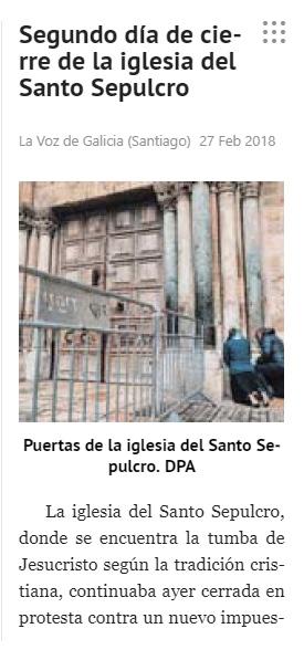 27-Feb-2018 La Voz de Galicia, Spain