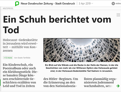 3-Apr-2019 Neue Osnabrucker Zeitung, Germany