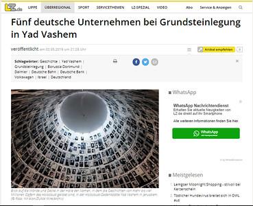 2-May-2019 Lippische Landes Zeitung, Germany