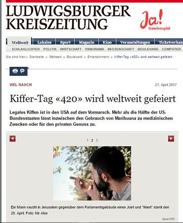 21-Apr-2017 Ludwigsburger Kreiszeitung, Germany