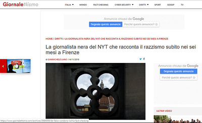 14-Nov-2018 Giornalettismo, Italy