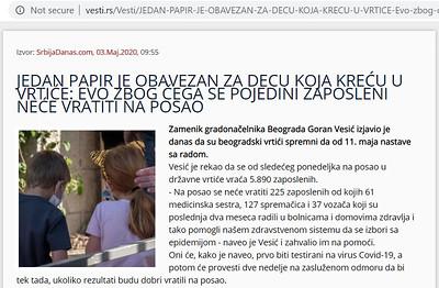 3-May-2020 Vesti, Serbia