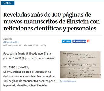 6-Mar-2019 Diario Siglo XXI, Spain