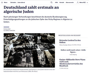 5-Feb-2018 Neue Zurcher Zeitung, Switerland