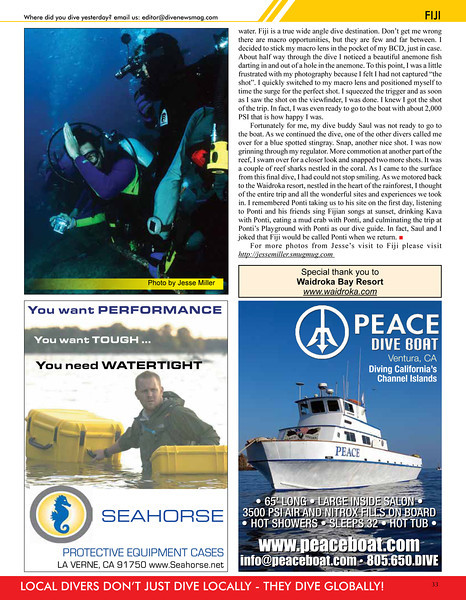 Northwest Dive News - Fiji Article Page 4 of 4 - April 2012