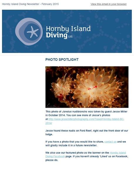 Hornby Island Newsletter