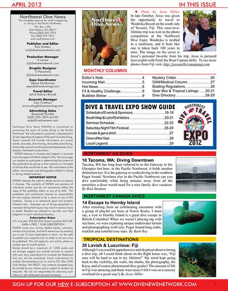 Northwest Dive News - Bio - April 2012