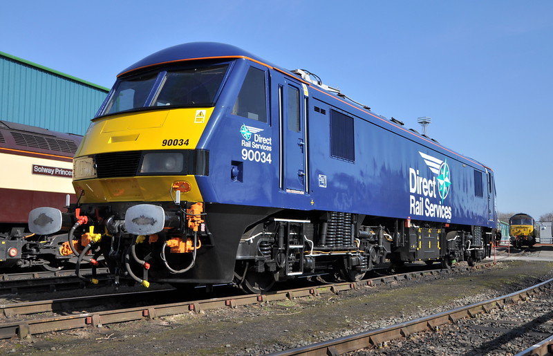 90034 on display to the press at Crewe Gresty Bridge on 11/03/14.<br /> Published in Railways Illustrated May 2014.