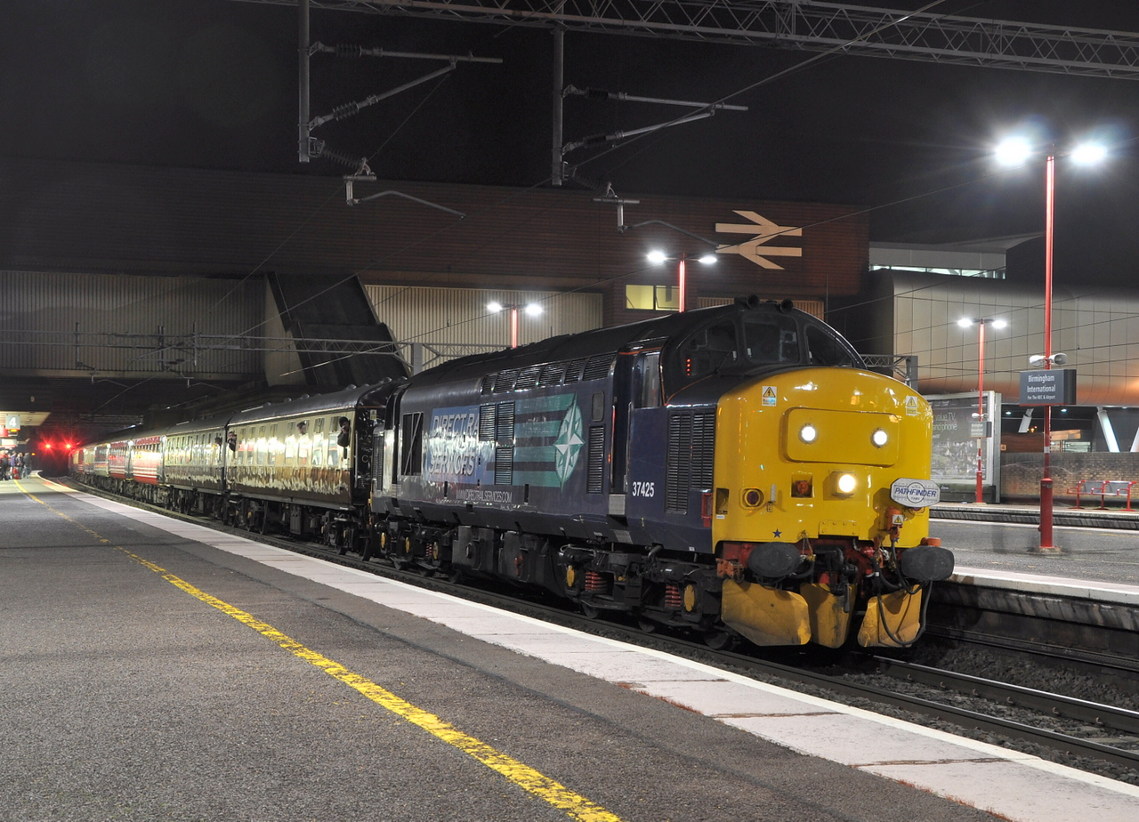 37425 at Birmingham International on 12/01/13 with 'The Enigmatic Logistician' charter.<br /> Published in Railways Illustrated March 2013.