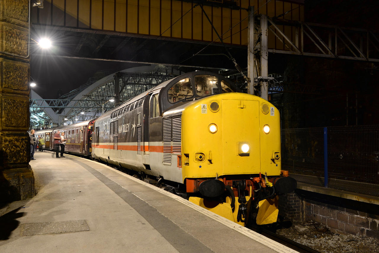 37518 at Liverpool Lime Street with a charter from Carlisle - Crewe on 16/08/14.<br /> Published in Railways Illustrated November 2014.