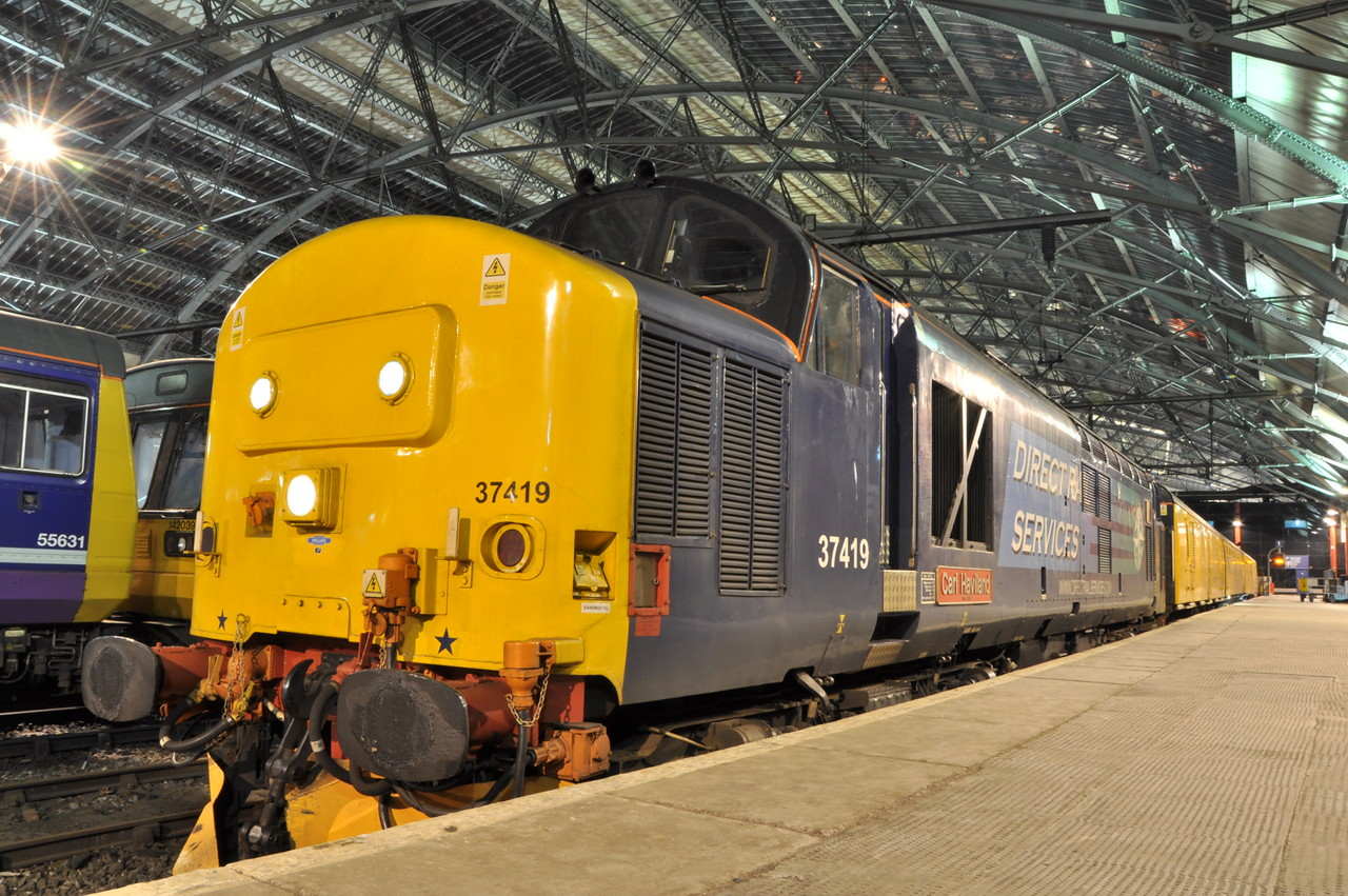 37419 at Liverpool Lime Street on 13/03/13 with 3Q26 Crewe - Crewe.<br /> Published in Railways Illustrated May 2013.