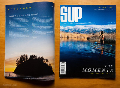 (photo left) John Warner paddling off the coast of California near Trinidad. SUP Magazine Spring 2012
