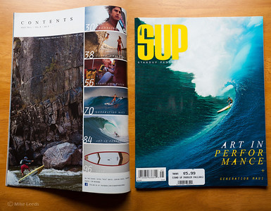 I had this photo of Mike Tavares with an Air at Golds Wave on the Main Salmon River in Idaho, (photo far left) published in SUP Magazine Fall 2012