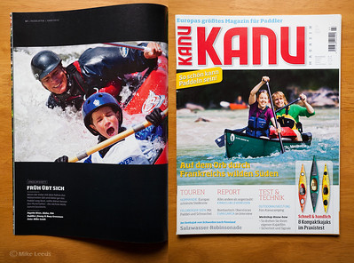 Kanu Magazine June 2012-(photo left) Jim Grossman and his son Buey surfing at the Gutter on the Main Payette River in Idaho.