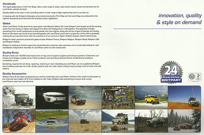 Britpart Landrover Calendar 2013...November; Discovery in charred woods. Bottom row 2nd from right.