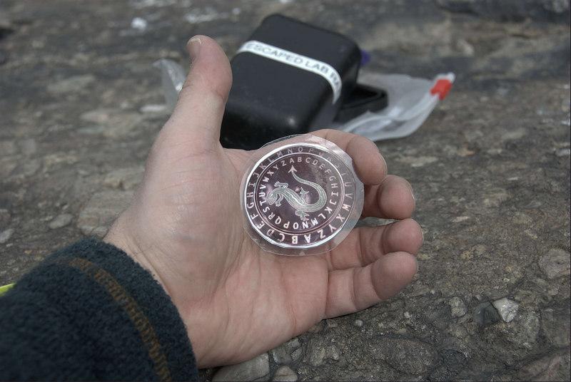 Cache contents-Decypher coin