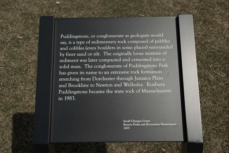 Pudingstone Park sign