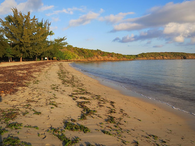 This is the beach at the Seven Seas Campground near Faqardo. I spent two nights camped here, this is sunrise.