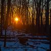 Winter sunset, Pyramid Mountain