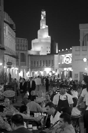 Cafe street scene, Souq Waqif - Doha
