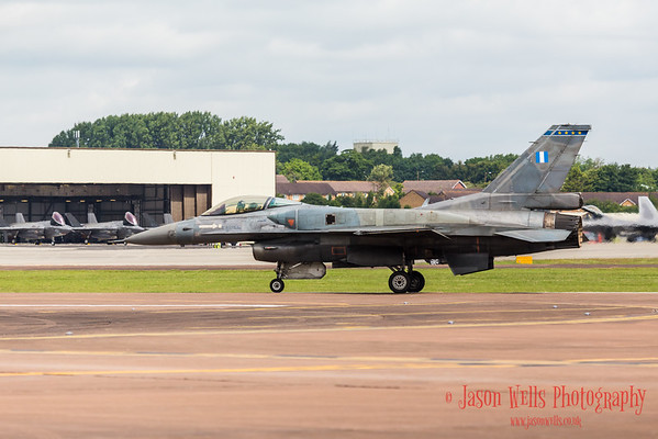 F-16 Demo Team 'Zeus' taking off in the spare