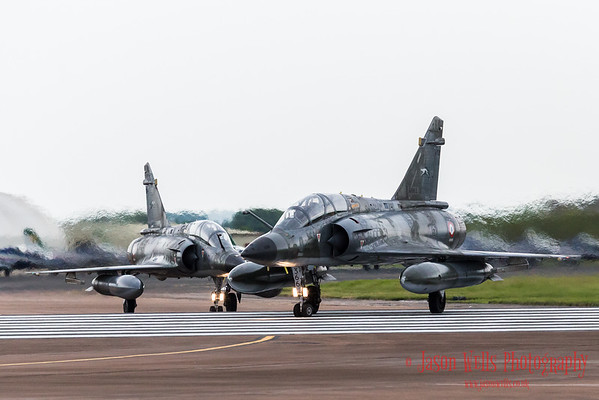 Ramex Delta taxi out in their pair of Mirage 2000N's