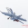 F/A-18 Super Hornet from the US Navy lifting into the sky