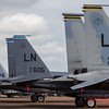 Eagle trio comprising an F-15E sandwiched between a pair of F-15C's