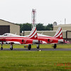 Pair of F-5 Tiger II's of the Swiss Air Force depart