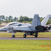 F/A-18 Super Hornet slows on the runway