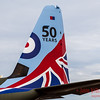 Special markings on the tail of an RAF Super Hercules