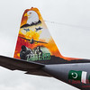 Painted tail on a Pakistan Air Force C130E Hercules