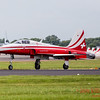 One of the Patrouille Suisse F-15E Tiger II's takes off