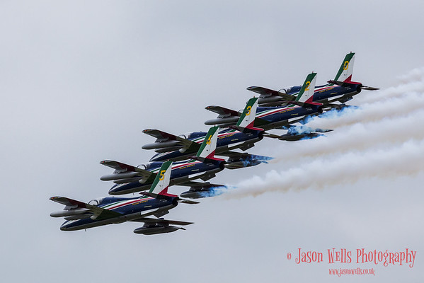 Section of the Frecce Tricolori arrive at Fairford