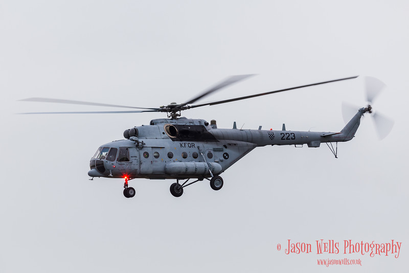 """Mil Mi-171 """"Hip"""" of the Croatian Air Force approaches Fairford"""