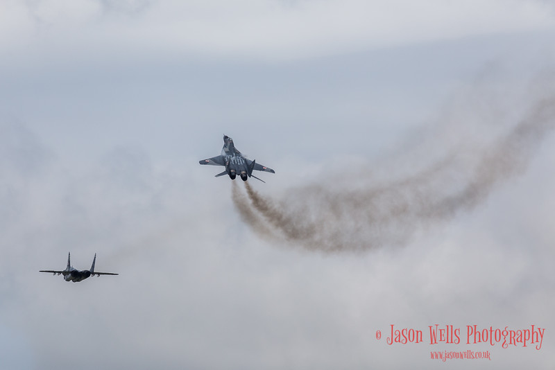 Pair of Polish Fulcrums arriving at Fairford