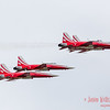 Four-ship of Patrouille Suisse in a diamond formation