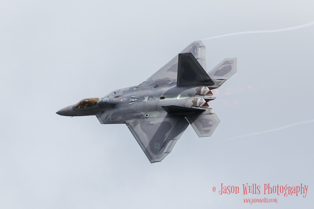 Wingtip vortices from the USAF F-22A